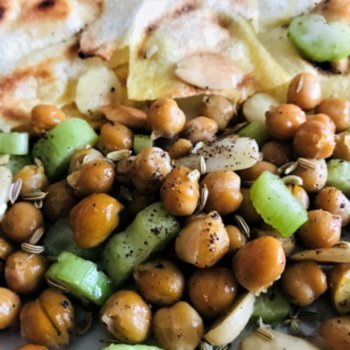 Lunch today - chickpeas based