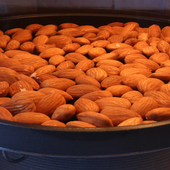 Toasting almonds