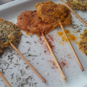 Spiced Parmesan Lollipops