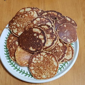 Stack of cooked buckwheat blini