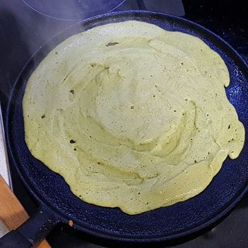 Indian chaura na poora, or Black-Eyed Bean Pancakes