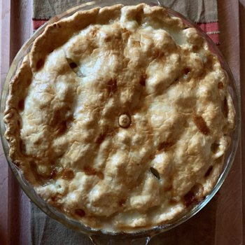 Pork-Apple-Potato-Onion Pie, Post-Bake