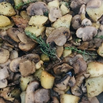 Mushrooms and potatoes with aromatic herbs.jpeg