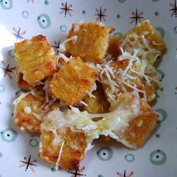 Baked Cauliflower Gnocchi with melted 'Cheese'