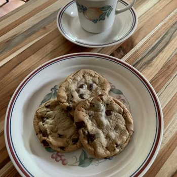 Chocolate Chip Cookies And Tea