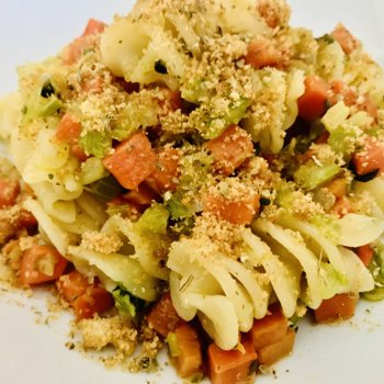 Pasta with Soffritto topped with toasted breadcrumbs.jpeg