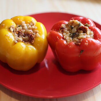 Pork Stuffed Bell Peppers