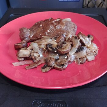 Pork Chop with Mushrooms and Onions