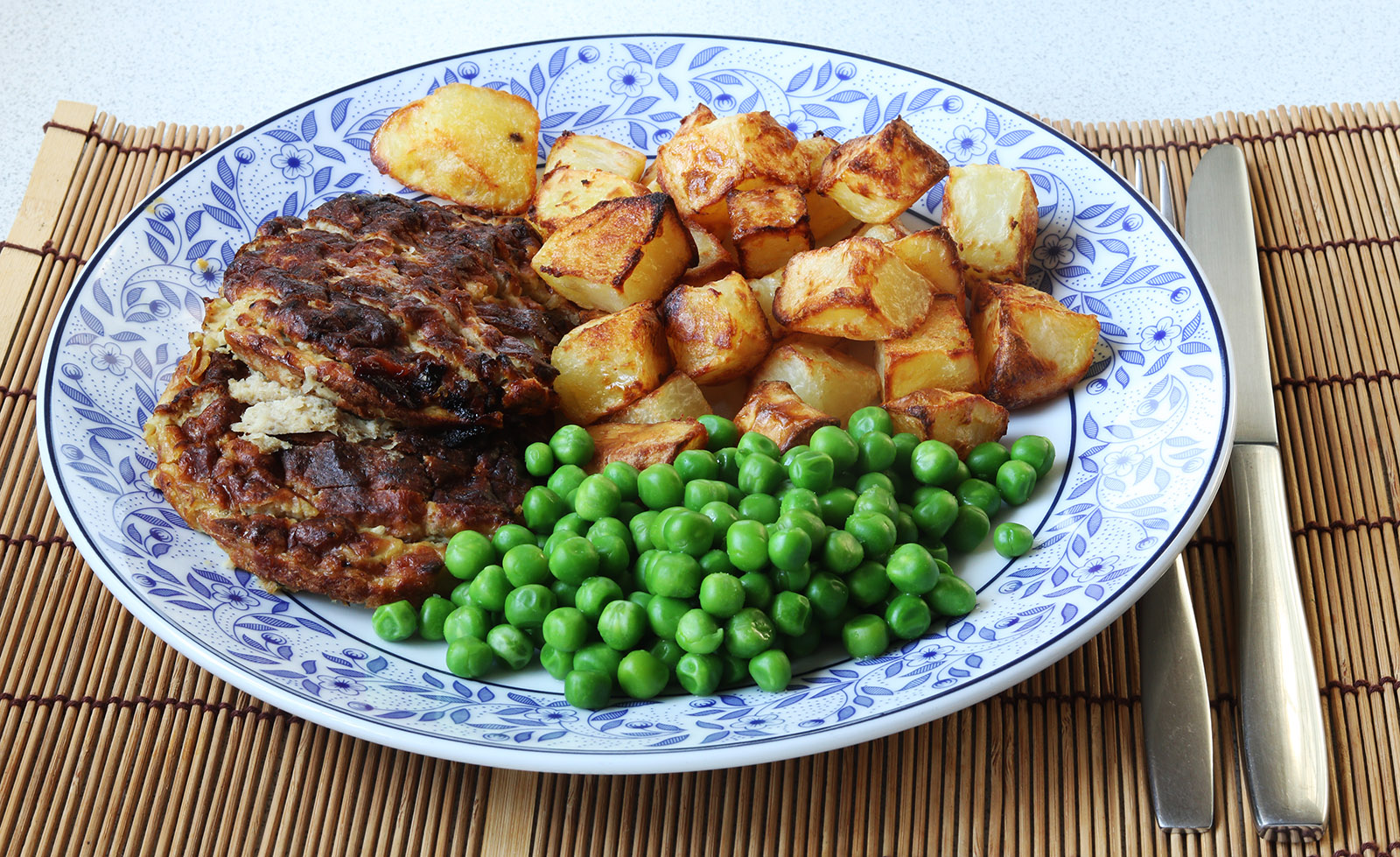 Haslet, roast potatoes, peas s.jpg